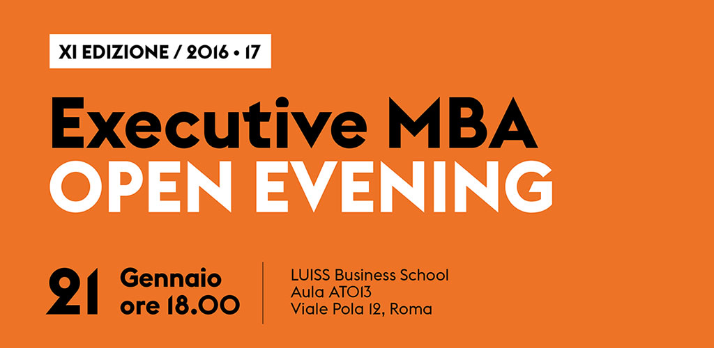 Executive MBA OPEN EVENING