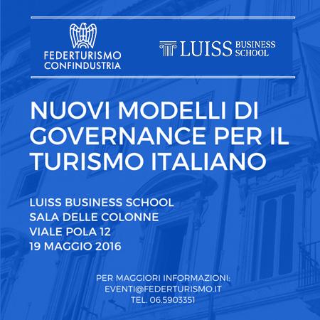 Nuovi modelli di Governance per il turismo italiano
