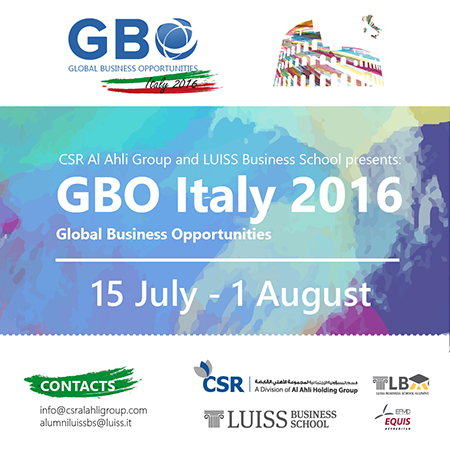 LUISS Business School ospita per la prima volta in Italia il GBO  - Global Business Opportunity