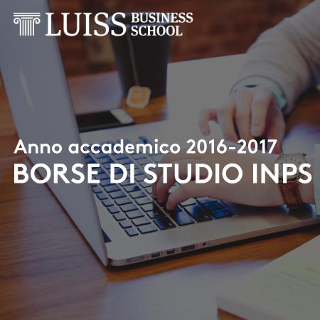 Borse di studio INPS: i Master LUISS Business School accreditati