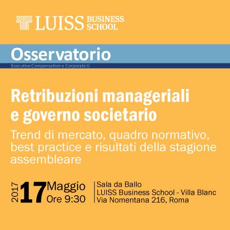 Retribuzioni manageriali e governo societario