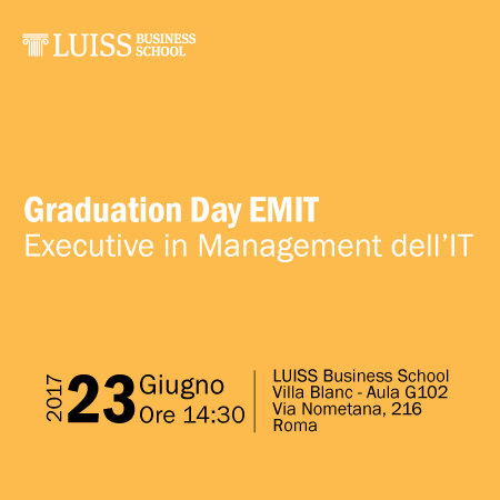 Graduation Day EMIT – Executive in Management dell'IT