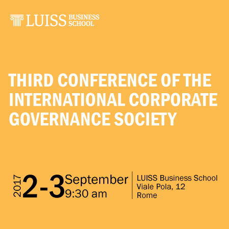Third conference of the International Corporate Governance Society