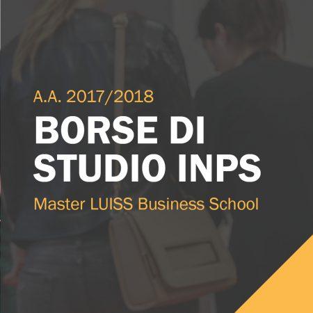Borse di studio INPS disponibili per i Master 2017/2018 LUISS Business School