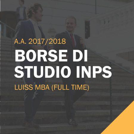 Borse di studio INPS per il LUISS MBA Full-Time 2017