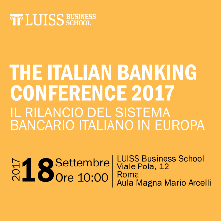 The Italian Banking Conference 2017