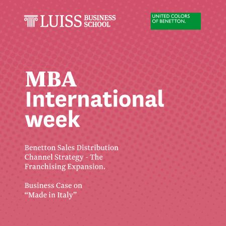 MBA International Week with Benetton Group
