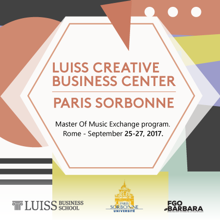 Exchange Program degli studenti del Master of Music LUISS Creative Business Center – Paris Sorbonne