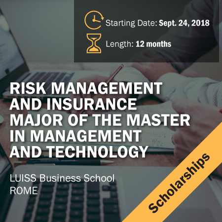 10 Scholarships for the Master in Risk Management and Insurance
