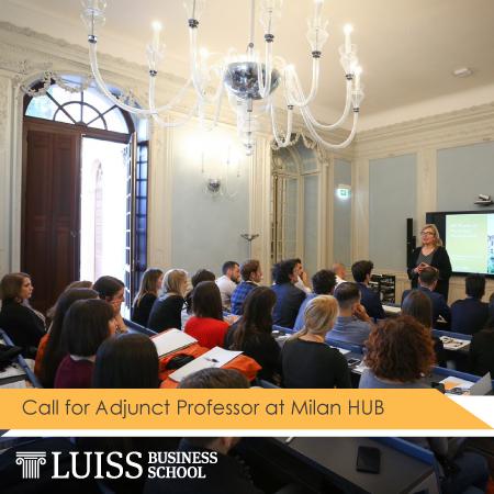 Call for Adjunct Professors at Milan HUB