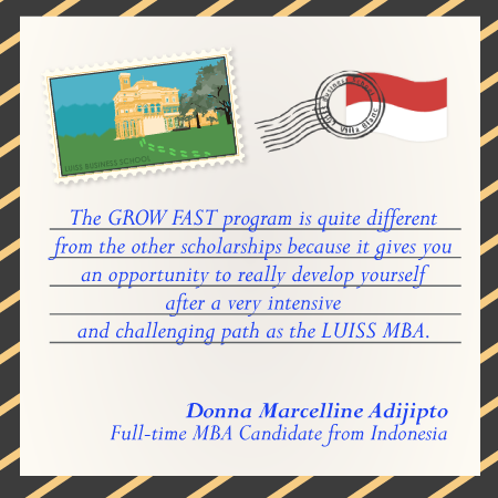 The road to LUISS Business School: Donna, Full-time MBA Candidate from Indonesia