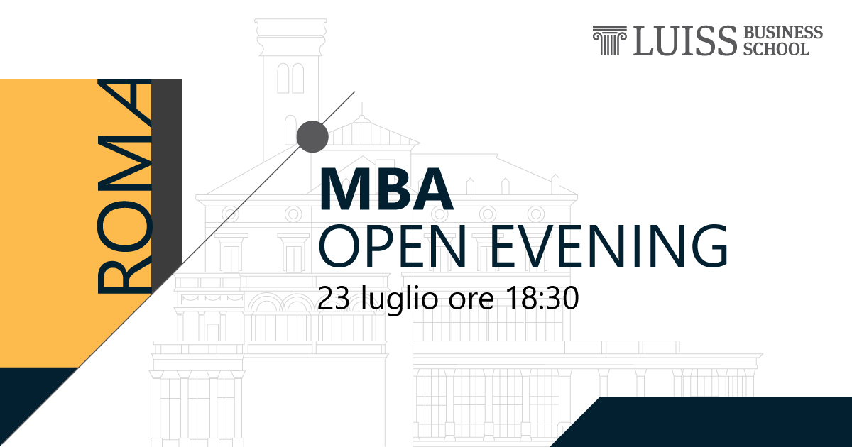 open evening luiss business school mba