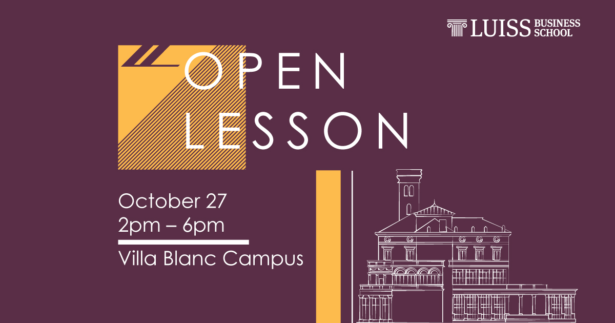 open lesson mba luiss