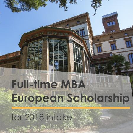 Full-time MBA European Scholarship