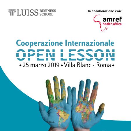 Cooperazione Internazionale: open lesson 25 marzo 2019