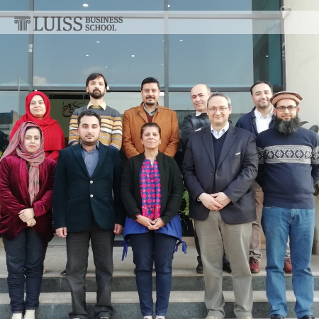 The LUISS Business School training course for the Pakistan Poverty Alleviation Fund on the starting blocks