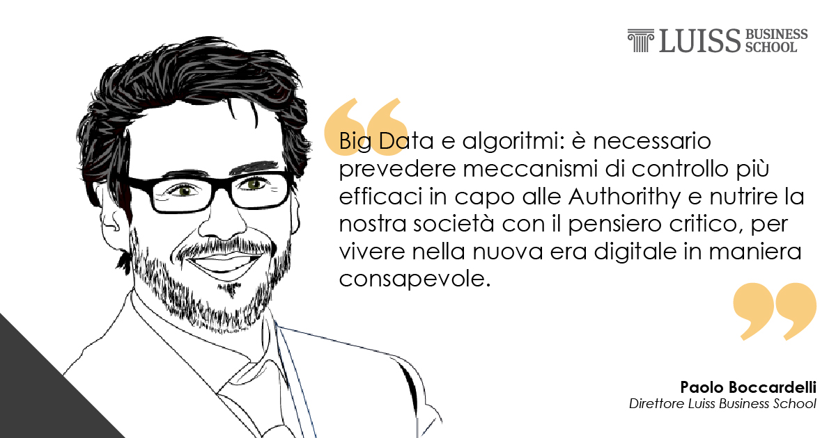 algoritmi filter bubble paolo boccardelli luiss