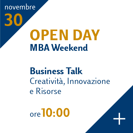 Open Day MBA Weekend 30 novembre 2019