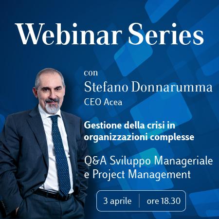 Luiss Business School Webinar Series con Stefano Donnarumma, CEO Acea