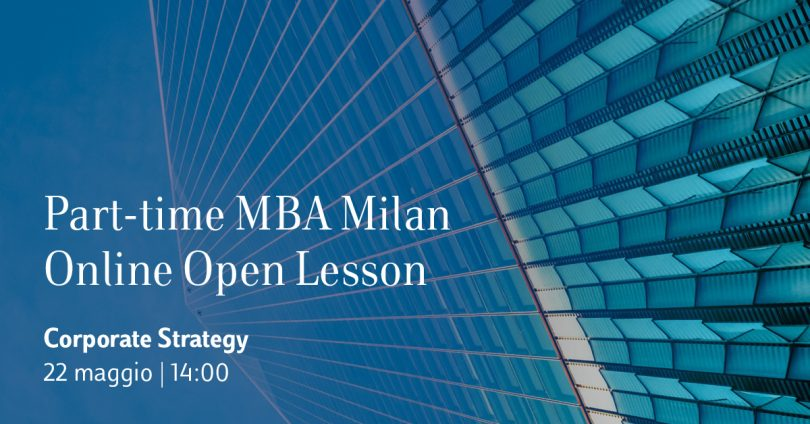 20200506_Part-time MBA Milan Open Lesson Corporate Strategy_ITA_1200x628