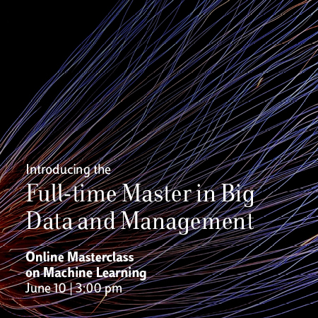 Masterclass online – Master Full-time in Big Data and Management
