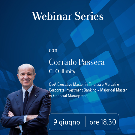 Luiss Business School Webinar Series con Corrado Passera