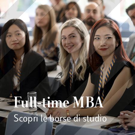 Borse di studio per Full-Time MBA – Edizione Ottobre 2020