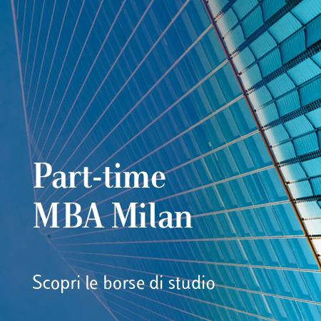 BORSE DI STUDIO PER IL PART-TIME MBA MILAN – EDIZIONE NOVEMBRE 2020