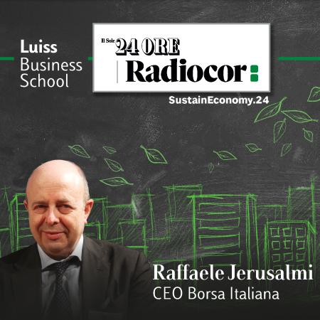 Jerusalmi: «Finanza sostenibile, l'impegno di Borsa Italiana continuerà a crescere»