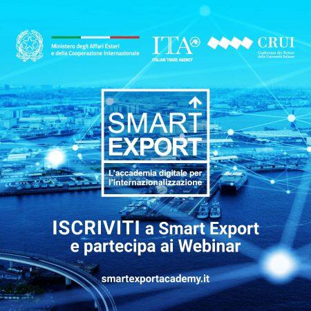 Partecipa al primo ciclo di webinar Smart Export