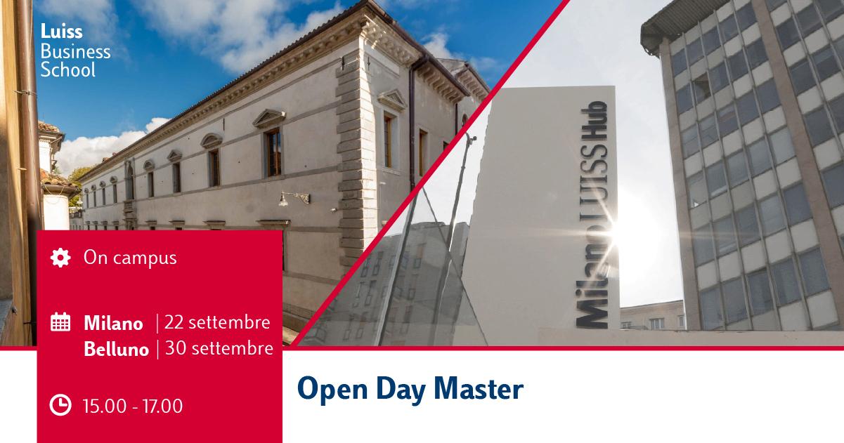 Open day Master Milano e Belluno