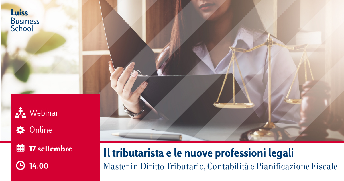Webinar Master Diritto Tributario