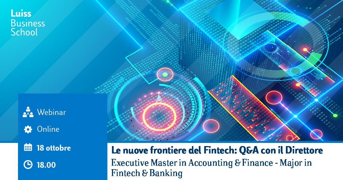 Webinar Executive master Fintech and Banking